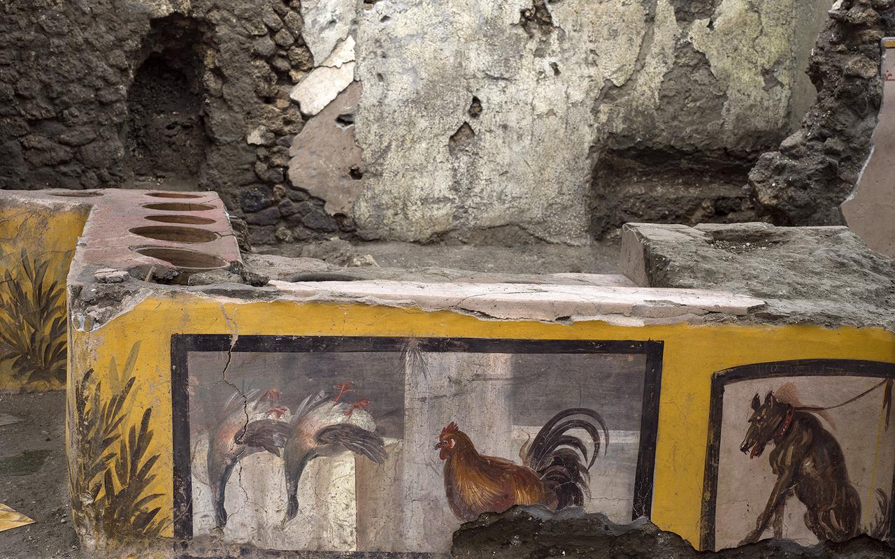 """L'ultima meraviglia di Pompei: riemerge per intero il """"fast food"""" della Regio V"""