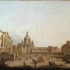 Pietro Bellotti, Dresda: il mercato nuovo dallo Jüdenhof, cm 60,5 x 88. Londra, Rafael Valls Ltd.