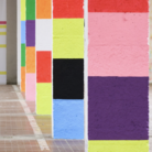 Peter Halley. Columns in 10 Colors