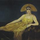 Alberto Martini, Ritratto di Wally Toscanini, 1925, Pastello su carta, 204 x 131 cm, Collezione privata | Courtesy of Musei San Domenico, Forlì
