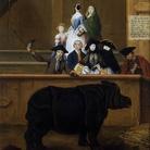 Pietro Longhi, Il Rinoceronte, 1751, Venezia, Ca' Rezzonico - Mueo del Settecento veneziano