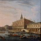 Pietro Bellotti, Il Molo verso ovest con il Palazzo Ducale, cm 38 x 48,5. Londra, collezione privata
