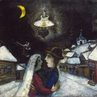 Marc Chagall, Nella notte, 1943, Olio su tela, 52.4 x 47 cm, Philadelphia Museum of Art, Collezione Louis E. Stern, 1963