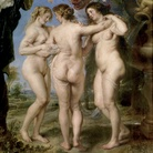 Sir Pieter Paul Rubens (Siegen, 1577 - Anversa,1640), Le Tre grazie, 1638 circa, Olio su tela, 181 x 221 cm,Museo del Prado, Madrid