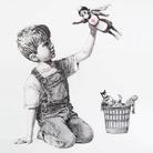 Banksy, Game Changer, 2020 | L'opera rimarrà in mostra al Southampton General Hospital fino all'autunno 2020, quando verrà messo all'asta per raccogliere fondi per enti di beneficenza del Servizio Sanitario Nazionale britannico