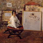 William Merritt Chase, Did You Speak to Me?, 1897 c. | © Butler Institute of American Art
