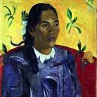 Paul Gauguin, Donna tahitiana con fiore, 1891, Olio su tela, 70.5 x 46.5 cm   © Ny Carlsberg Glyptotek, Copenhagen   Foto: Ole Haupt