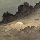 Napoleone Cozzi, Dal taccuino Prealpi Clautane, Pag. 12, 1902, Acquerello su carta, Trieste, Società Alpina delle Giulie Sezione di Trieste del C.A.I