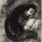 Marc Chagall, Ebreo in preghiera. Inchiostro di china, grafite e acquerello su carta, cm 43,9x32,7. Dono dell'artista © Chagall ® by SIAE 2015