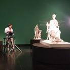 CANOVA, HAYEZ, CICOGNARA. L'Ultima gloria di Venezia, Il regista Franco Rado mentre ritrae per il film prodotto da ARTE.it