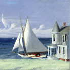 Edward Hopper, Lee Shore, 1941, Olio su tela, 109.2 x 71.8 cm, The Middleton Family Collection | © Heirs of Josephine Hopper / 2019, ProLitteris, Zurich | Foto: © 2019. Photo Art Resource / Scala, Florence