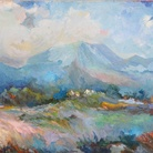 Paolo Salvati, Montagna Blu, 2003. Olio su tela, cm 50 x 70