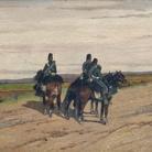 Giovanni Fattori, Le vedette, 1865 circa, Collezione Gustavo Sforni | Courtesy of Dart - Chiostro del Bramante e Arthemisia Group 2016