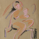 Leonardo Castellani, Nudo femminile, 1920, Pastello su carta, 22 x 32.5 cm, Collezione Devanna, Bitonto