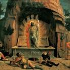 Andrea Mantegna, Resurrezione, 1457-1459, Tempera su tavola, 70 x 92 cm, Tours, Musée des Beaux-Arts