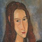 Amedeo Modigliani (Livorno,1884 - Parigi, 1920), Ritratto di ragazza dai capelli rossi