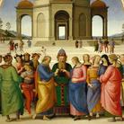 Pietro Vannucci detto il Perugino, Sposalizio della Vergine, 1500-1504, Olio su tavola, 236 × 186 cm, Caen, Musée des Beaux-Arts