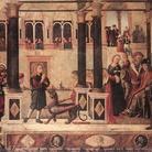 Vittore carpaccio, San Trifone ammansisce il Basilisco, 1507, Tempera su tavola 141 x 300 cm, Venezia, Scuola di San Giorgio degli Schiavoni