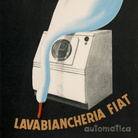 Federico Seneca, Manifesto/poster per réclame, Lavabiancheria automatica FIAT, 1952, Carta/cromolitografia, 100 x165.5 cm, Museo Nazionale Collezione Salce, Treviso