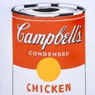 Andy Warhol, Campbell's Soup Can (Chicken With Rice), 1962. Courtesy The Brant Foundation, Greenwich, CT, USA. © The Andy Warhol Foundation for the Visual Arts Inc. by SIAE 2013