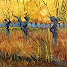 Vincent van Gogh, Salici potati al tramonto, 1888, Olio su tela applicata su cartone, 31.6 x 34.3cm, Otterlo, Kröller-Müller Museum