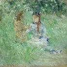 Berthe Morisot (1841-1895), Donna e bambina in un prato a Bougival, Non datato (1882?), Olio su tela, 60.1 x 73.3 cm, Cardiff, Amgueddfa Cymru   National Museum Wales, Lascito di Margaret Davies, 1963