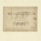Leonardo da Vinci (1452-1519), Codice Atlantico (Codex Atlanticus), Foglio 55 recto, Ponte militare, definito da Leonardo