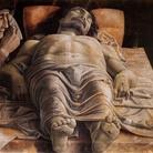 Andrea Mantegna, Cristo morto,1475-1478 ca., tempera su tela. Pinacoteca di Brara, Milano
