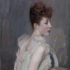 Giovanni Boldini, Ritratto della contessa De Leusse, nata Berthier, 1889. Olio su tela, 170 x 59 cm