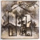 I carpentieri che costruirono la casa dell'Angelo. Ceramiche di Mirco Denicolò