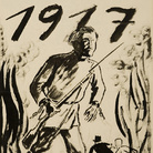 George Grosz, 1917 1924. China e matita su carta, cm 64,8 x 52,3.