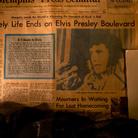Copia originale del quotidiano Memphis Press Scimitar del 17 agosto 1977, pubblicato il giorno seguente alla morte di Elvis Presley