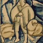 Achille Funi, Soldato in trincea, cm 29x 26,5.