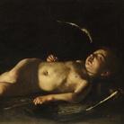 Caravaggio,Eros dormiente, 1608-1609, Olio su tela, Firenze, Galleria degli Uffizi