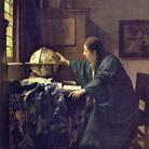 Jan Vermeer, L'astronomo, 1668, Olio su tela, 45 x 51 cm, Musée du Louvre | Una delle tele più desiderate da Hitler, razziata alla famiglia Rothschild, fu rinvenuta dagli americani nel 1945, all'interno della miniera di sale di Altaussee, in Austria, insieme ad altri 6500 pezzi tra quadri, statue, mobili, armi, monete, tra cui la Madonna con Bambino di Michelangelo, rubata a Bruges, l'imponente polittico dell'Agnello mistico dei fratelli Van Eyck