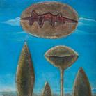 Ülo Sooster, Sartre, 1961, Compensato, colore a olio, colla, sabbia