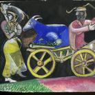 Marc Chagall, Studio per The Cattle Dealer, 1912. Gouache e grafite su carta, cm 15,7x31. Lascito Jules Lubell, New York, all'American Friends of the Israel Museum, in memoria della nonna Chaya Austern Fuchs © Chagall ® by SIAE 2015