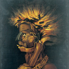 Giuseppe Arcimboldo, Il Fuoco, Post 1566, Olio su tela, 55.5 x 74 cm, Svizzera, Collezione privata