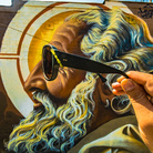 Mear One, GOD'S RAY, Los Feliz, Los Angeles, God portrait mural, This mural still exists | Photo © Vonjako