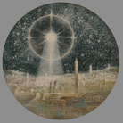 Dmitry Plavinsky, Cosmic phenomenon over Jerusalem, 2000, Tela, tecnica mista