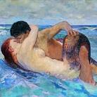 Max Klinger, Tritone e Nereide, 1895, olio su tela. Firenze, Villa Romana