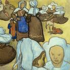 Vincent Van Gogh, Les bretonnes et le pardon de Pont Aven, 1888, Acquarello su carta applicata su cartone, Milano, Galleria d'Arte Moderna | Courtesy of Palazzo dei Priori, Fermo