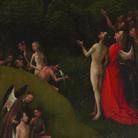 Jheronimus Bosch, Paradiso Terrestre, Polittico delle Visioni dell'Aldilà, 1490-1516 circa, Olio su tavola, 41.5 x 88.5 cm, Palazzo Grimani Venezia