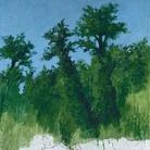Carlo Mattioli, Nella Versiliana, 1982, Olio su tela, 120 x 168 cm, Collezione privata | Courtesy of Labirinto della Masone, Fontanello, Parma