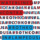 Waterlines incontra Rothko in Lampedusa