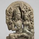 Śiva e Pārvatī abbracciati, Uttar Pradesh, Almora, IX secolo d.C., Scisto verde, 44 cm