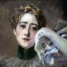 Giovanni Boldini, Ritratto di S.A.S. Principessa C. d'Isemburg-Birstein,1898. Olio su tela, 37 x 41 cm