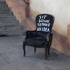 Andrea Bianconi. A Bologna. Sit down to have an idea