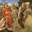 Michelangelo Buonarroti, Deposizione di Cristo nel sepolcro, 1500-1501 circa. Tempera su tavola, cm 161,7 x 149,9. National Gallery, Londra
