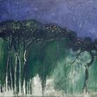 Carlo Mattioli, Nel pineto, 1983, Olio su tela, 150 x 130 cm, Collezione privata | Courtesy of Labirinto della Masone, Fontanello, Parma